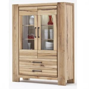 Sussex Display Cabinet Solid Wild Oak With Led Light