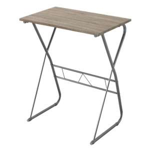 Cargo Wooden Laptop Desk In Oak With Metal Frame