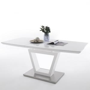 Carina Extendable Dining Table In High Gloss White