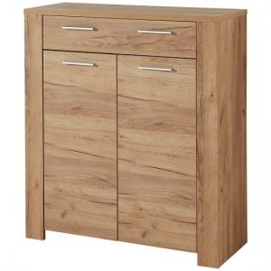 Carlton Shoe Storage Cabinet In Navarra Oak With 2 Doors