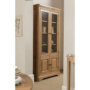 Carmen Wooden Display Unit In Natural With 4 Doors