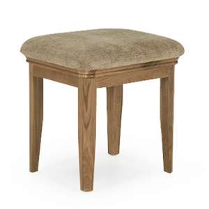 Carmen Wooden Dressing Stool In Natural
