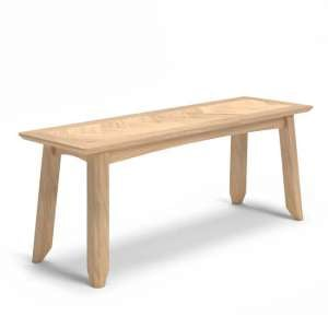 Carnial Wooden Dining Bench In Blond Solid Oak