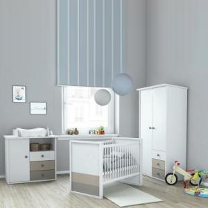 Carolyn Childrens Chest of Drawers In White Basalt And Grey_2