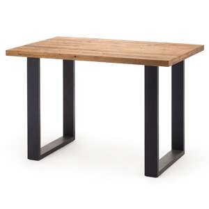 Castello Big Bar Table In Wild Oak With Anthracite Base