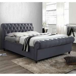 Castello Side Ottoman Super King Size Bed In Charcoal