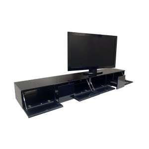 Castle LCD TV Stand In Black With Four Glass Door