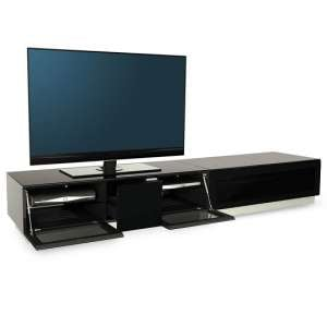 Castle LCD TV Stand Extra Large In Black With Glass Door