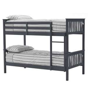 Castleford Wooden Bunk Bed In Grey