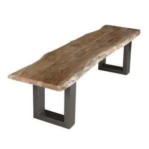 Catila Live Edge Large Wooden Dining Bench In Oak