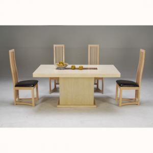 Celine Marble Dining Table With 6 Chairs