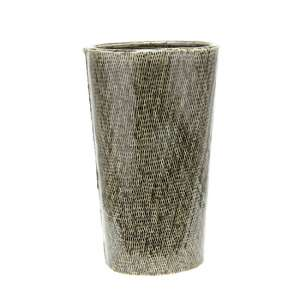 Cestina Ceramic Small Decorative Vase In Antique Green