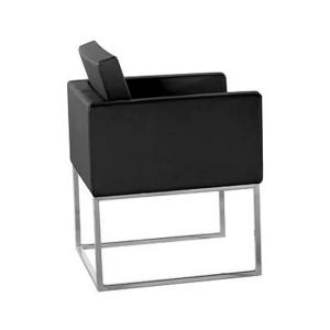 Aqua Black Pvc Chair With Steel Legs
