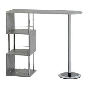 Charisma Home Bar Table In Concrete Effect And Chrome