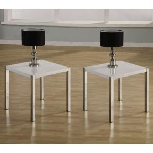 Stefan Lamp Table In High Gloss White