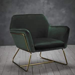Charles Velvet Armchair In Racing Green
