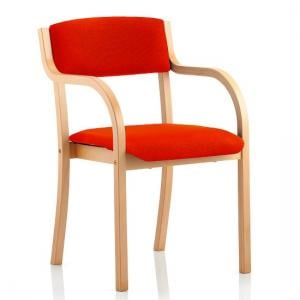 Charles Office Chair In Pimento And Wooden Frame With Arms