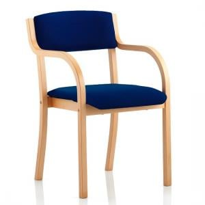 Charles Office Chair In Serene And Wooden Frame With Arms
