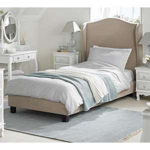 Chateaux Wing Single Fabric Bed In Beige