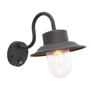 Chesham PIR Wall Light In Black