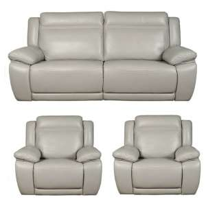 Cheshire 3 Seater Sofa And 2 Armchairs Suite In Light Grey