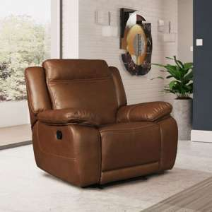 Cheshire Leather Recliner Sofa Chair In Tan
