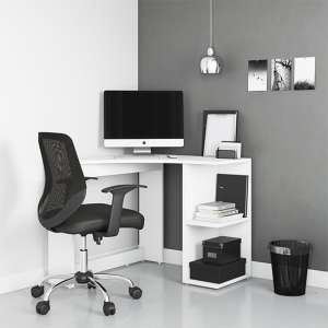 Chesil Wooden Corner Computer Desk In White