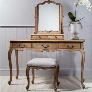 Chic Mindy Ash Dressing Table In Weathered Finish