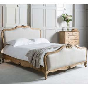 Chic Mindy Ash Wooden King Size Bed In Weathered