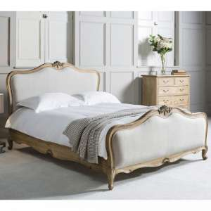 Chic Mindy Ash Wooden Super King Size Bed In Weathered