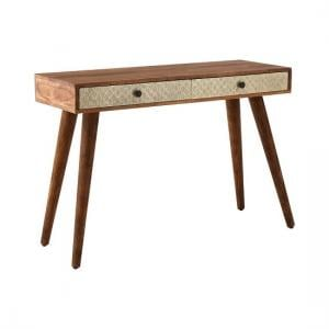 Algieba Wooden Console Table In Natural With 2 Drawers