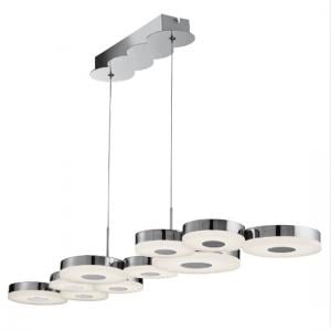 Chromia LED 10 Disc Ceiling Bar In Chrome And Frosted Acrylic