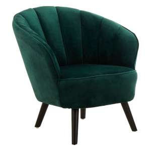 Barnard Tub Style Velvet Upholstered Bedroom Chair In Green