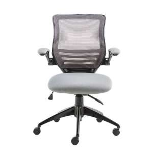 Clay Bracket Shaped Office Chair In Grey
