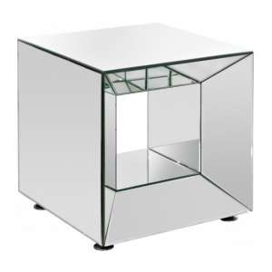 Clemence Mirrored Square Lamp Table