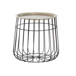 Clemence Modern Side Table In Silver And Black