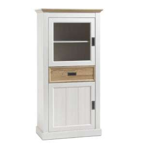Cleveland Display Cabinet In White And Wild Oak
