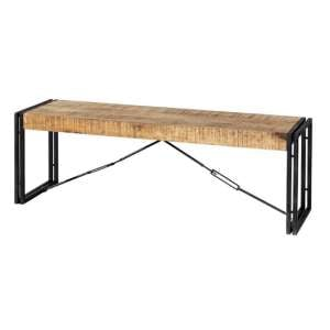 Clio Industrial Wooden Dining Bench In Oak