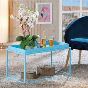 Club NY Metal Coffee Table In Candy Blue