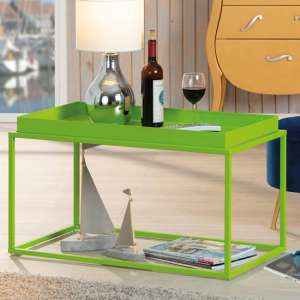 Club NY Metal Coffee Table In Pretty Green