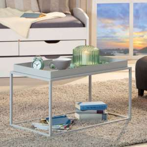 Club NY Metal Coffee Table In Royal Grey