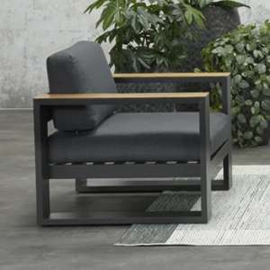 Cobe Armchair In Charcoal Metal Frame