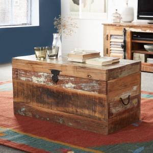 Coburg Wooden Storage Trunk In Reclaimed Wood
