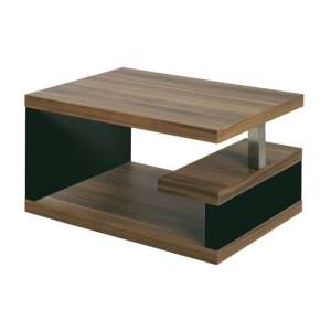 Geno Side Table In Walnut With Black Gloss