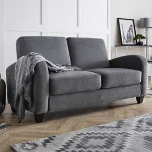 Coghill Two Seater Fabric Sofa In Dusk Grey Chenille