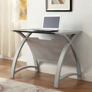 cohen curve laptop table small in black glass top and grey ash1