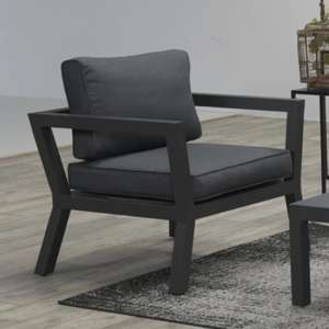 Colap Armchair In Carbon Black Metal Frame