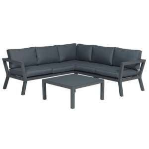 Colap Corner Sofa With Coffee Table In Carbon Black