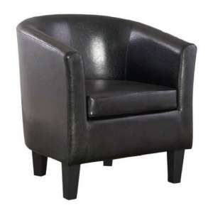 Colby Faux Leather Single Tub Chair In Black