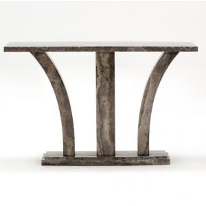 Colton Marble Console Table Rectangular In Pearl Grey